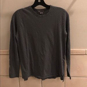 New Vince crew neck split hem long sleeve t-shirt